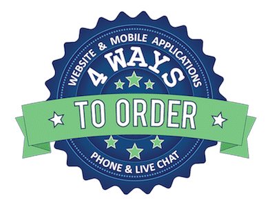 Mobile–responsive website + Android & iOS apps for smartphones/tablets = easy ordering 24/7.